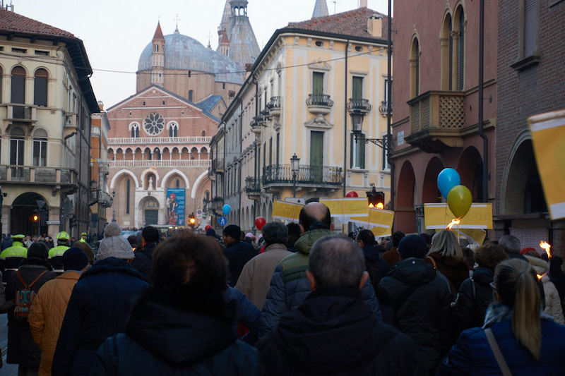 marcia per la pace a Padova
