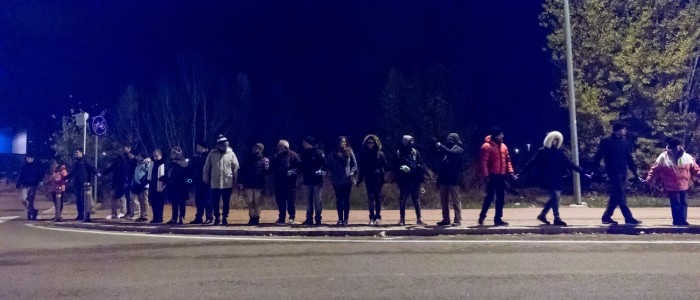 Modena, catena umana contro la schiavitù, sul marciapiede del sesso a pagamento