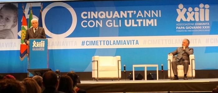 Il Presidente Sergio Mattarella in visita alla Comunità Papa Giovanni XXIII 533b0609068