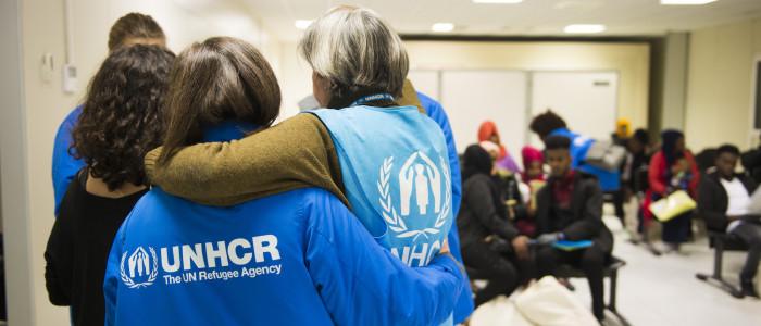 Arrivo Corridoio umanitario dal Libano, con Unhcr a Roma, dicembre 2018
