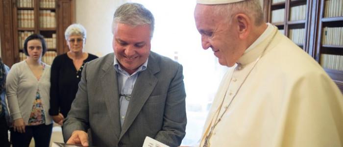 Giovanni Paolo Ramonda con Papa Francesco