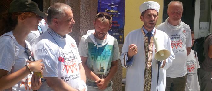 Giovanni Paolo Ramonda con Imam di Tirana