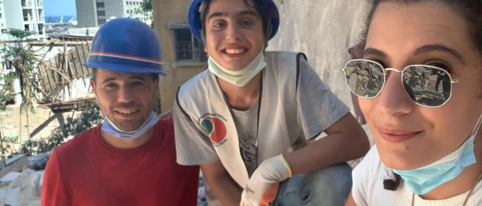 Volontari di Operazione Colomba a Beirut in Libano