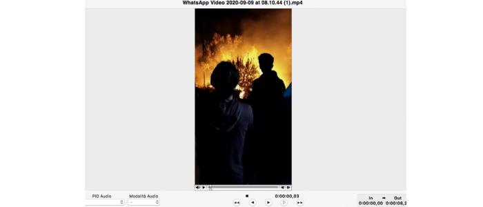 Incendio nel campo profughi di Moria a Lesbo