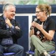 Giovanni Paolo Ramonda intervistato dai giovani durante il Congrosso, l'incontro di conclusione delle attività estive.