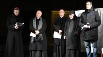 Nella giornata di Santa Bakhita 2018, a Verona: Francesco Moraglia, patriarca di Venezia, insieme ai vescovi delle diocesi di Verona, Vicenza, Adria-Rovigo