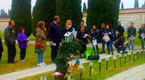 L'area del cimitero di Rimini dove vengono sepolti i bimbi morti prima di nascere