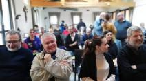 """Paolo Ramonda, insieme a Margherita Anselmi e padre Giacomo Costa durante il convegno """"Il vento favorevole continua"""" sul Sinodo dei giovani"""