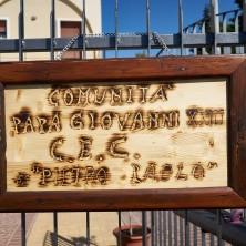 <p>Targa della casa CEC a Vasto. Foto di Federico Dessardo</p>