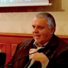 <p>Giovanni Paolo Ramonda in conferenza stampa a Roma presenta il Ministero per la Pace</p>