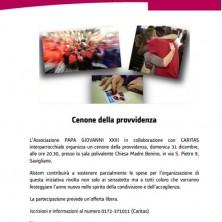 <p>Cenone di capodanno &quot;della Provvidenza&quot; in provincia di Cuneo. Benvenuto&nbsp;2018!</p>