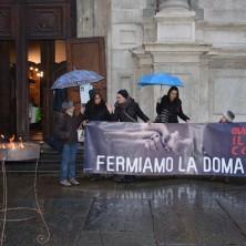 <p>Fermiamo la domanda, contro la schiavit&ugrave; della donna, Torino 2017</p>