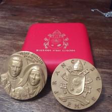 <p>Medaglietta che Papa Francesco ha donato ai missionari della Comunità Papa Giovanni XXIII durante la sua visita in Cile</p>