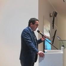 <p>L&rsquo;intervento di Giuseppe Riello, presidente della Camera di Commercio di Verona durante la premiazione</p>
