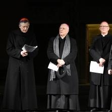 <p>Nella giornata di Santa Bakhita 2018, a Verona: Francesco Moraglia, patriarca di Venezia, insieme ai vescovi delle diocesi di Verona, Vicenza, Adria-Rovigo</p>