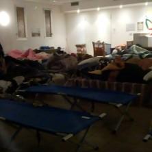 <p>Rimini, dormitorio temporaneo per ripararedal freddo</p>