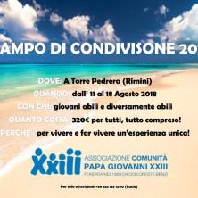 <p>Campo estivo di volontariato al mare: Rimini, 2018</p>