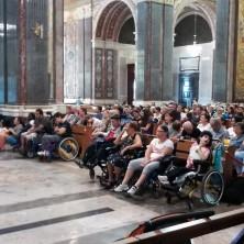 <p>Pellegrinaggio della Comunit&agrave; Papa Giovanni XXIII a Pompei. Foto di Alessio Zamboni</p>
