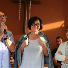<p>A sinistra: Matteo Giordani, responsabile della&nbsp;Casa Madre del Perdono; a fianco due&nbsp;funzionari del UEPE di Rimini (Ufficio esecuzione penale esterna) che collaborano con la Casa</p>