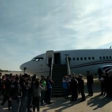 <p>L&#39;arrivo del corridoio umanitario a Roma</p>