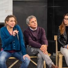 <p>Al centro Antonio Guadalupi, regista del Docu-film &quot;How much&quot; che racconta storie vere di donne ingannate e costrette a prostituirsi</p>