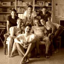 <p>Lorenzo Gasparini insieme alla sua famiglia</p>