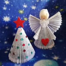 <p>Gli angeli ricavati con le pagine del messalino, dalla nostra lettrice Gabriella Zanoni.</p>