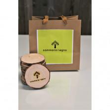 <p>Sottobicchieri in legno di abete naturale</p>