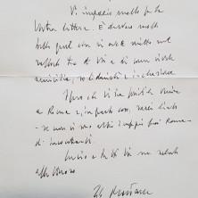<p>Lettera autografa del Presidente Sergio Mattarella</p>