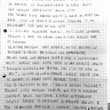 <p>La lettera scritta dagli ospiti della casa famiglia a Termoli</p>